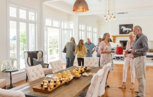 Hosting friends in dinning and living room